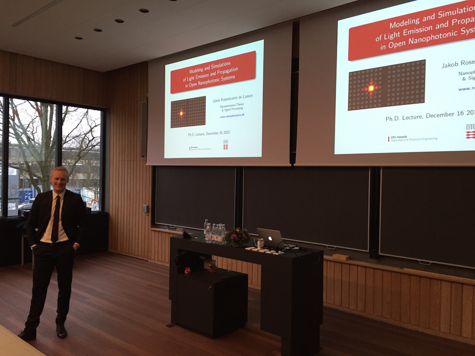 Ph.D. defense at DTU Fotonik (December 2015)